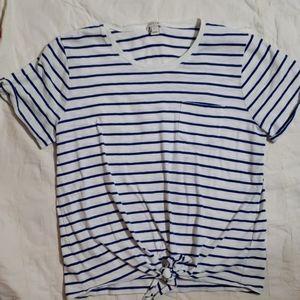 J.Crew striped women's shirt